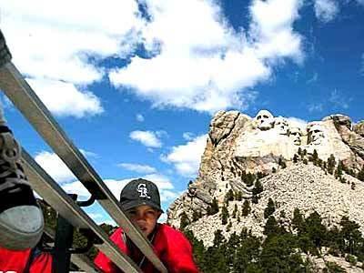 Playing at Mt. Rushmore