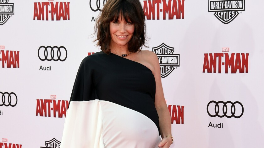 """Evangeline Lilly attends the premiere of Marvel's """"Ant-Man"""" at the Dolby Theatre on June 29, 2015, in Hollywood."""