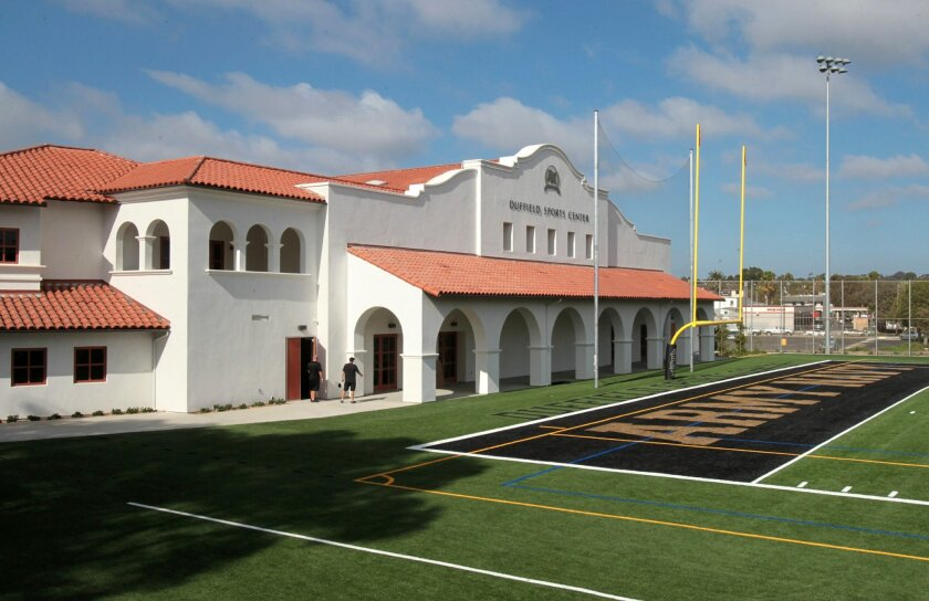 View of the new Duffield Sports Center at Army and Navy Academy.