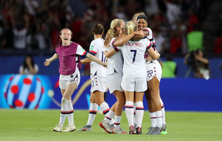 U.S. players celebrate