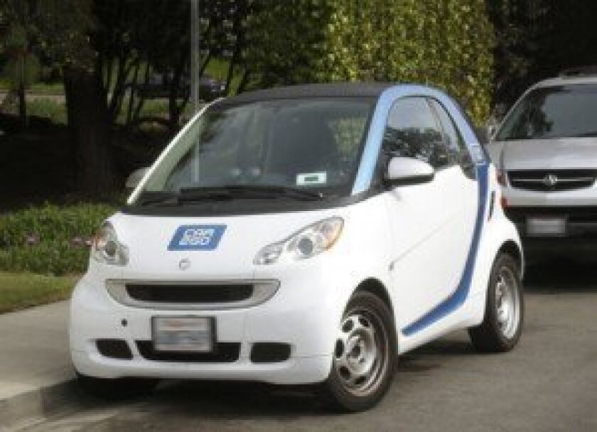 Parts of San Diego use the Car2Go car-sharing program and there are plans to take car sharing citywide.