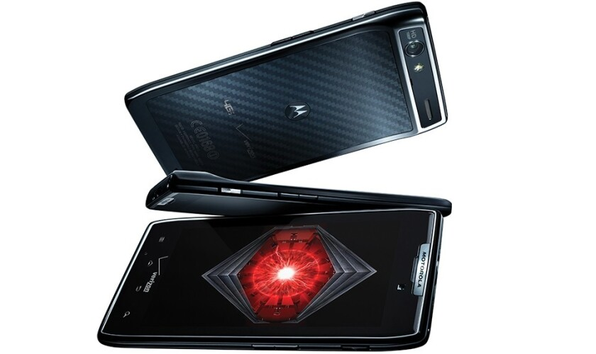 The Motorola Droid Razr. Verizon's offer comes with a two-year data contract.