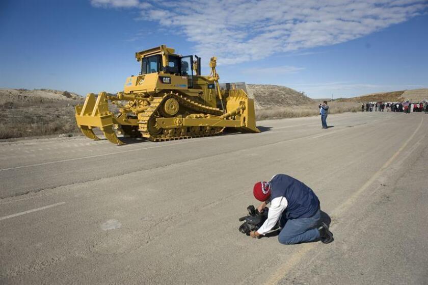 Construcción de ruta estatal en Estados Unidos. EFE/Archivo