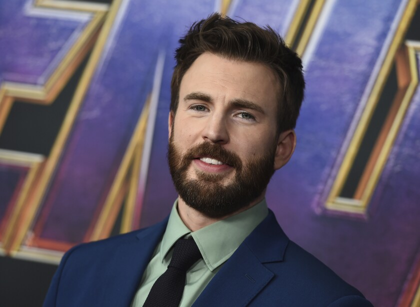 """FILE - Chris Evans arrives at the premiere of """"Avengers: Endgame"""" on April 22, 2019, in Los Angeles. Evans is hoping his new website and app can help voters make educated choices in the November U.S. election. His civic engagement site A Starting Point features short videos from Republican and Democratic members of Congress and other U.S. politicians sharing perspectives on policy issues. (Photo by Jordan Strauss/Invision/AP, File)"""