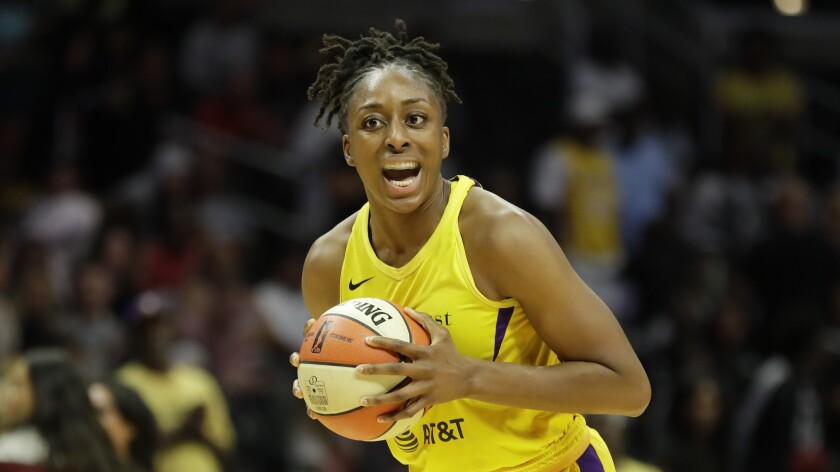 Sparks forward Nneka Ogwumike led a balanced attack for the Sparks, scoring a game-high 17 points and collecting seven rebounds on Thursday against the Indiana Fever.