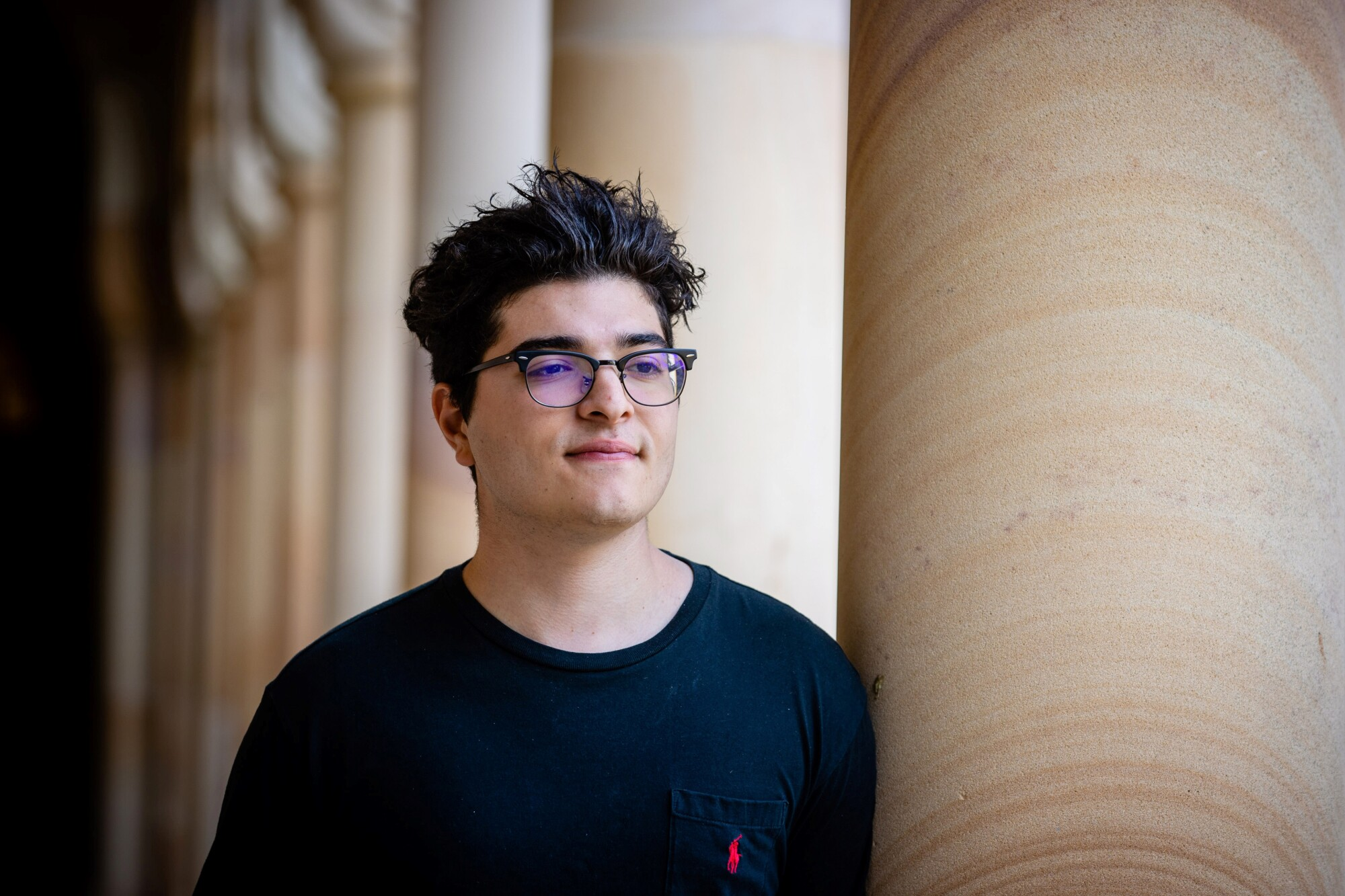 Drew Pavlou on the campus of the University of Queensland