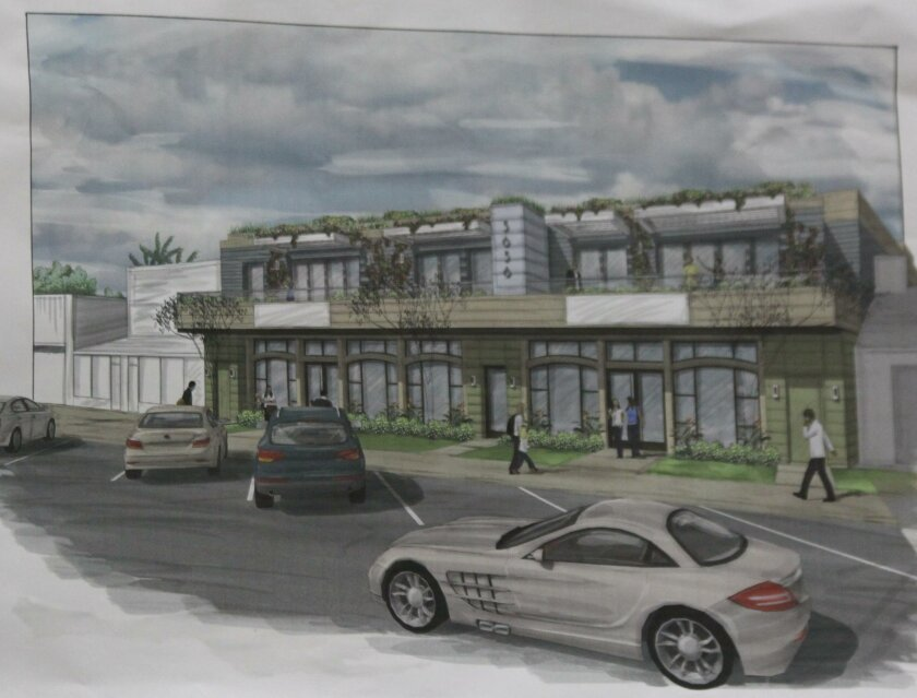 A rendering of the proposed mixed-use project in Bird Rock.