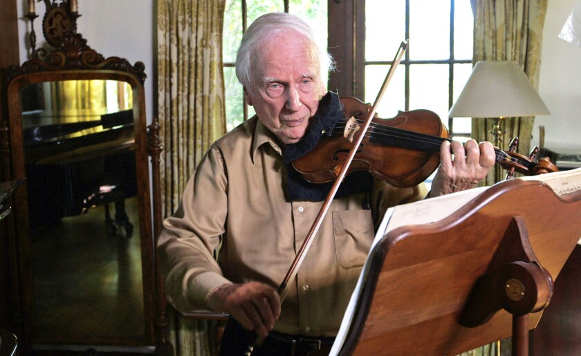 "Stuart Canin, the subject of the documentary ""The Rifleman's Violin."""