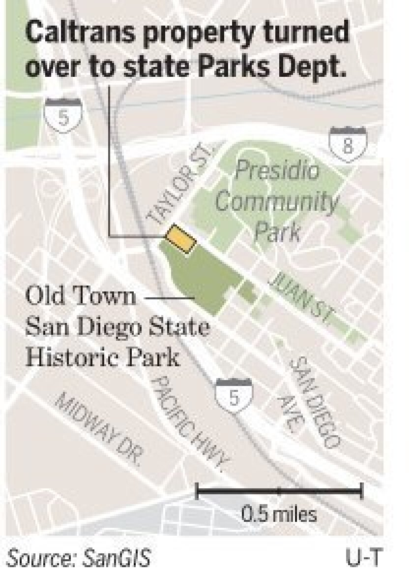 Old Town to get Caltrans land - The San Diego Union-Tribune