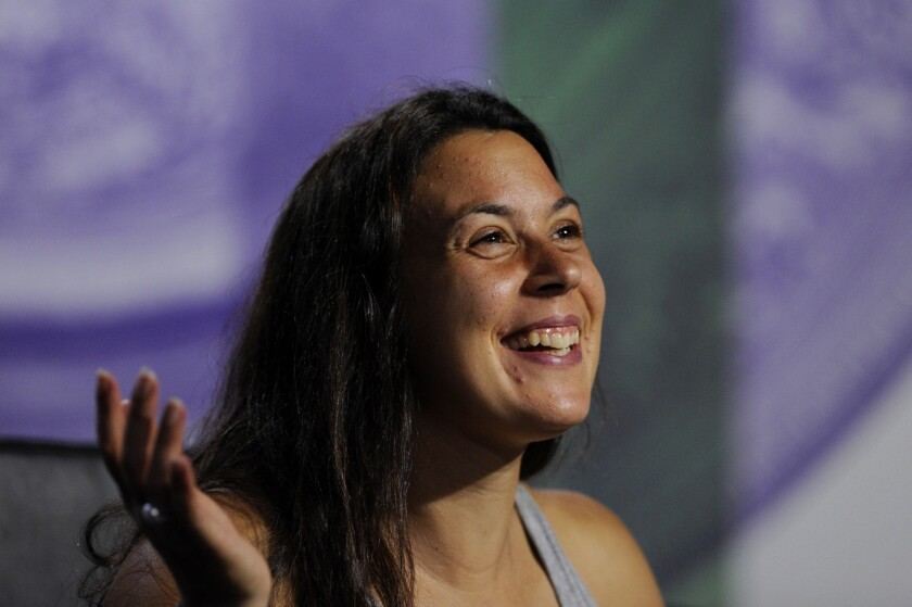 Marion Bartoli is all smiles as she discusses her Wimbledon victory on Saturday.