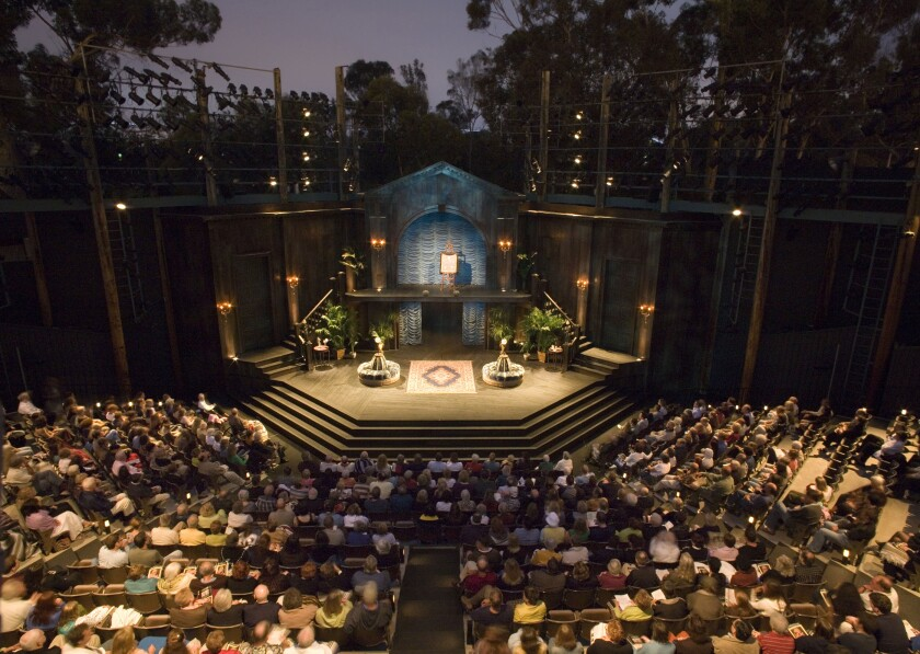 A full house at The Old Globe's Lowell Davies Festival Theatre in Balboa Park.