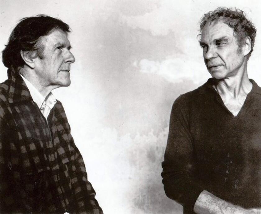 John Cage, left, profoundly influenced partner Merce Cunningham.