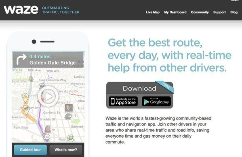 Apple is reportedly looking to acquire Waze, a social mapping app.