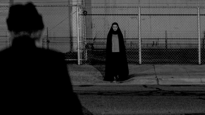 "Sheila Vand plays a chador-clad vampire in ""A Girl Walks Home Alone At Night."""