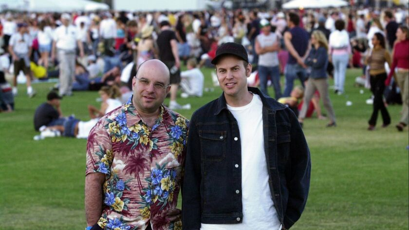 Coachella co-founders Rick Van Santen, left, and Paul Tollett in 2003.