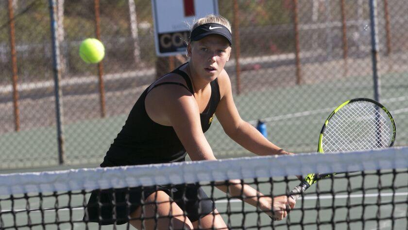 El Capitan tennis player Sara Blahova began the week with a 32-0 record this season.