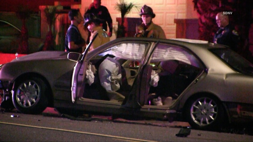 A driver fleeing from Chula Vista police died after crashing a Mercedes-Benz into a wall and telephone pole Wednesday night. His two passengers were injured, but expected to survive.