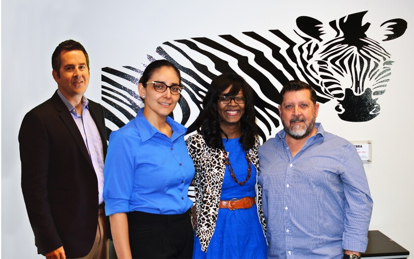 The team at Founders First, from left to right: David Huey, Oralia Alvarez, Kim Folsom and Mike Jacobson.