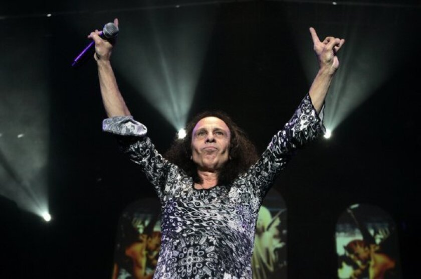 Ronnie James Dio, shown at a 2007 concert at the Forum, is the namesake of the Dio Cancer Fund.