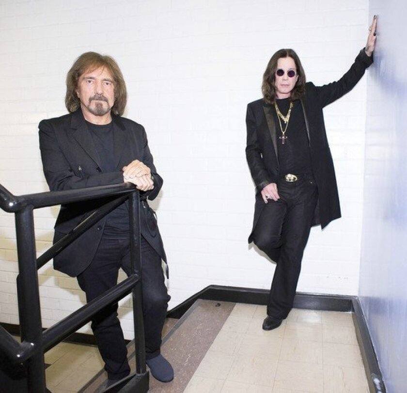 Ozzy Osbourne, right, and musician Geezer Butler of the rock band Black Sabbath.