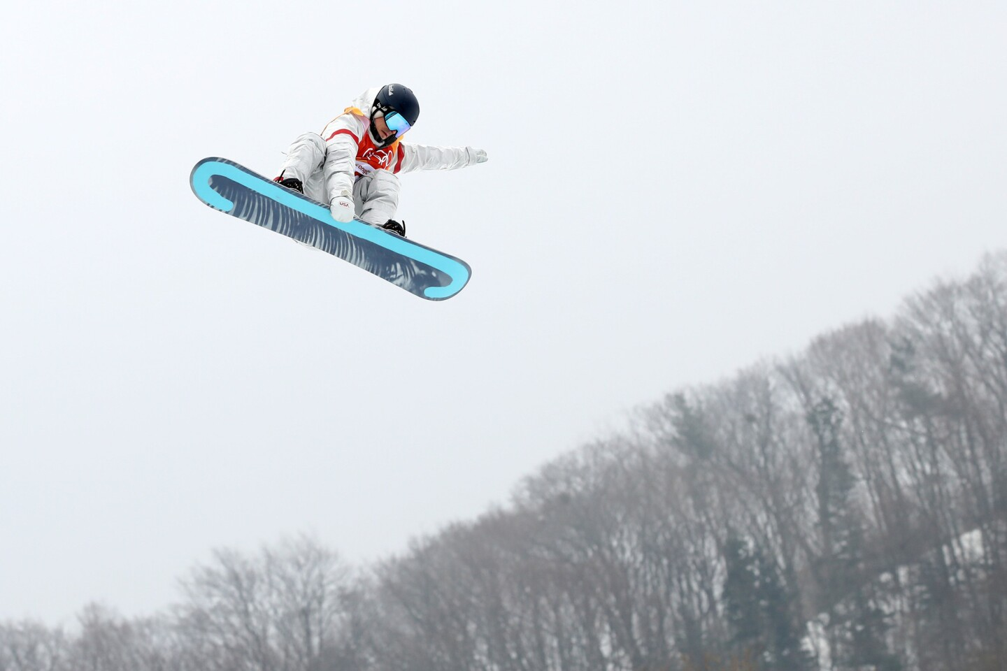 PYEONGCHANG-GUN, SOUTH KOREA - FEBRUARY 10: Ryan Stassel of the United States trains ahead of the Men's Slopestyle qualification on day one of the PyeongChang 2018 Winter Olympic Games at Phoenix Snow Park on February 10, 2018 in Pyeongchang-gun, South Korea. (Photo by Cameron Spencer/Getty Images) ** OUTS - ELSENT, FPG, CM - OUTS * NM, PH, VA if sourced by CT, LA or MoD **