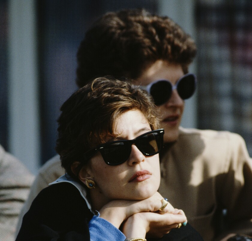 Patricia Gucci, the daughter of Aldo Gucci and Bruna Palombo, circa 1987.