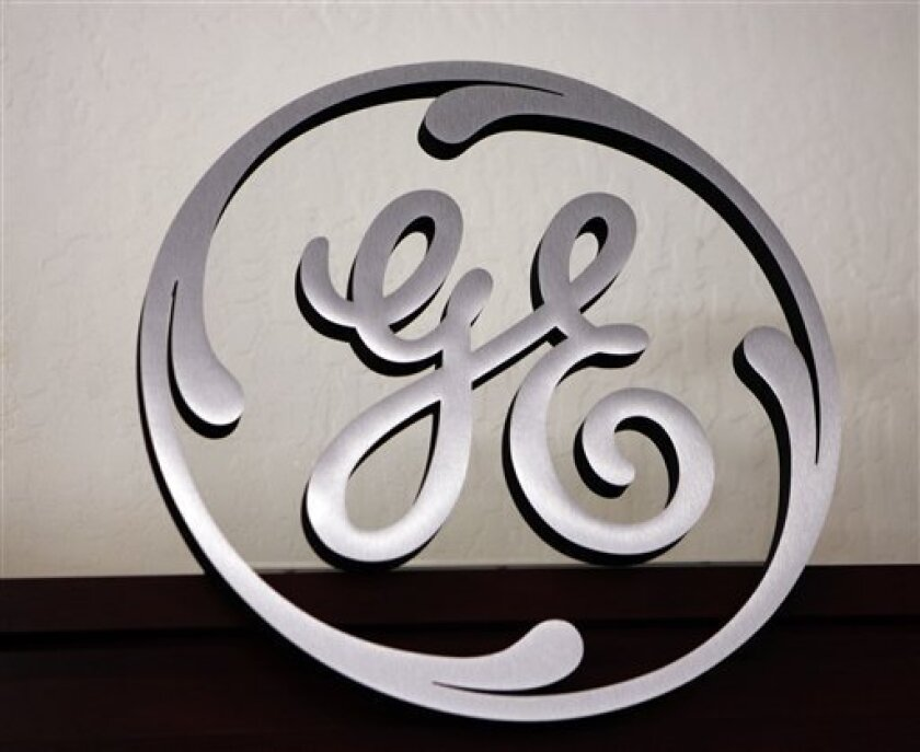 FILE - In this Dec. 2, 2008 file photo, a General Electric (GE) sign is seen on display at an appliance store in Mountain View, Calif. General Electric Co. on Tuesday, Dec. 8, 2009 said profits at its lending arm will start improving by 2011, but first it will have to slog through another year of big losses on loans gone bad in areas like commercial real estate. (AP Photo/Paul Sakuma, File)