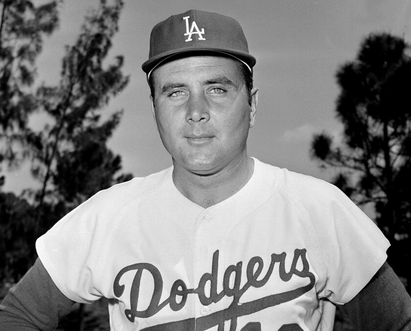 Dodgers reliever Ron Perranoski poses for a picture in April 1965.