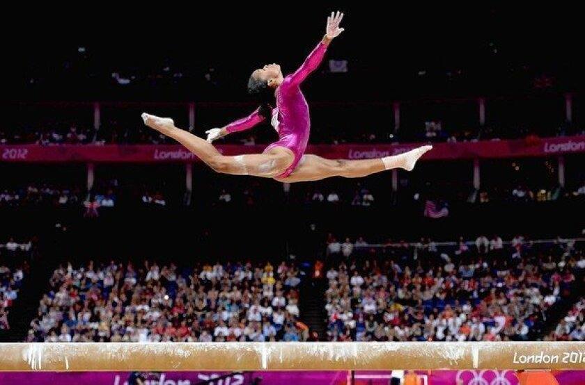 Gabby Douglas of the U.S. women's gymnastic team was one of the compelling stories of the London Games.