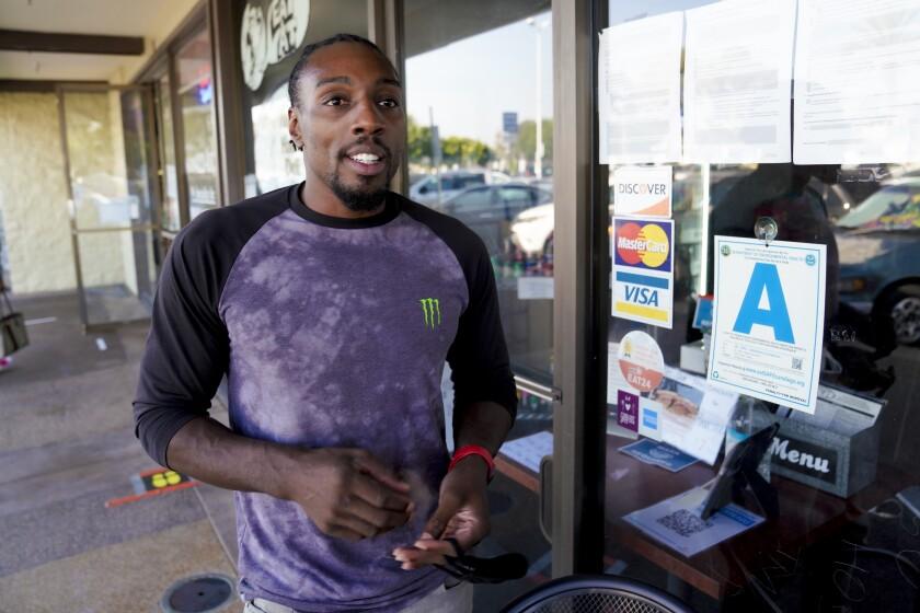 Bellator fighter Phil Davis, who co-owns Hungry Hank's Deli in Chula Vista.