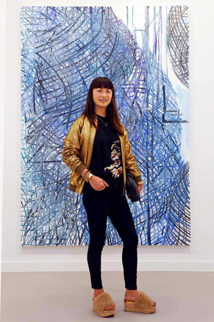 LOS ANGELES, CALIFORNIA--FEB. 15, 2019--Mary Ta, of Los Angeles attends the Frieze Los Angeles on Fe
