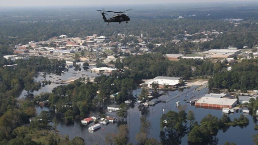 ***BESTPIX*** U.S. Military Surveys Flood Damage After Hurricane Florence