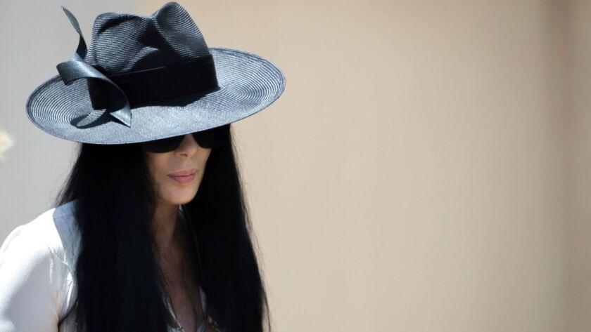 Cher arrives for the funeral of Gregg Allman on June 3, 2017, in Macon, Ga.