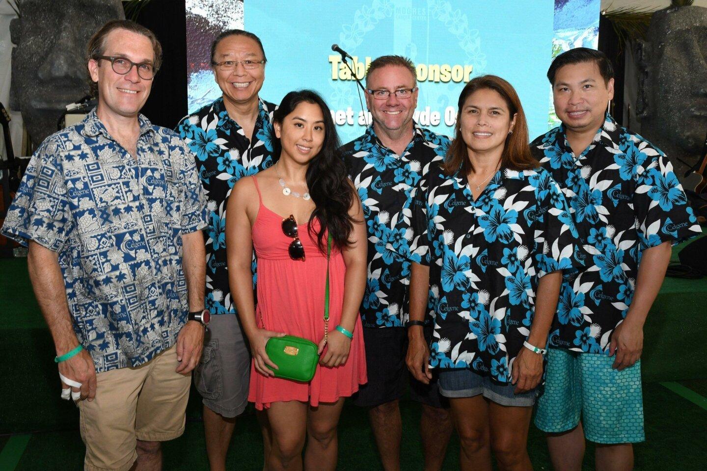 Jeffrey Long, Ho Cho, Katherine Tang, Corey Mendell, Becki Jones, Julius Apui (all with title sponsor Celgene)
