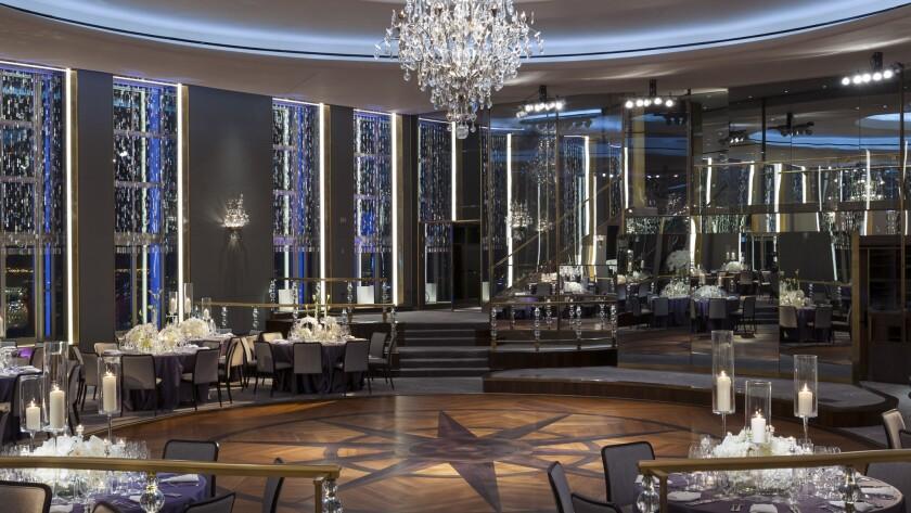 The dance floor at the restored Rainbow Room at 30 Rockefeller Center.
