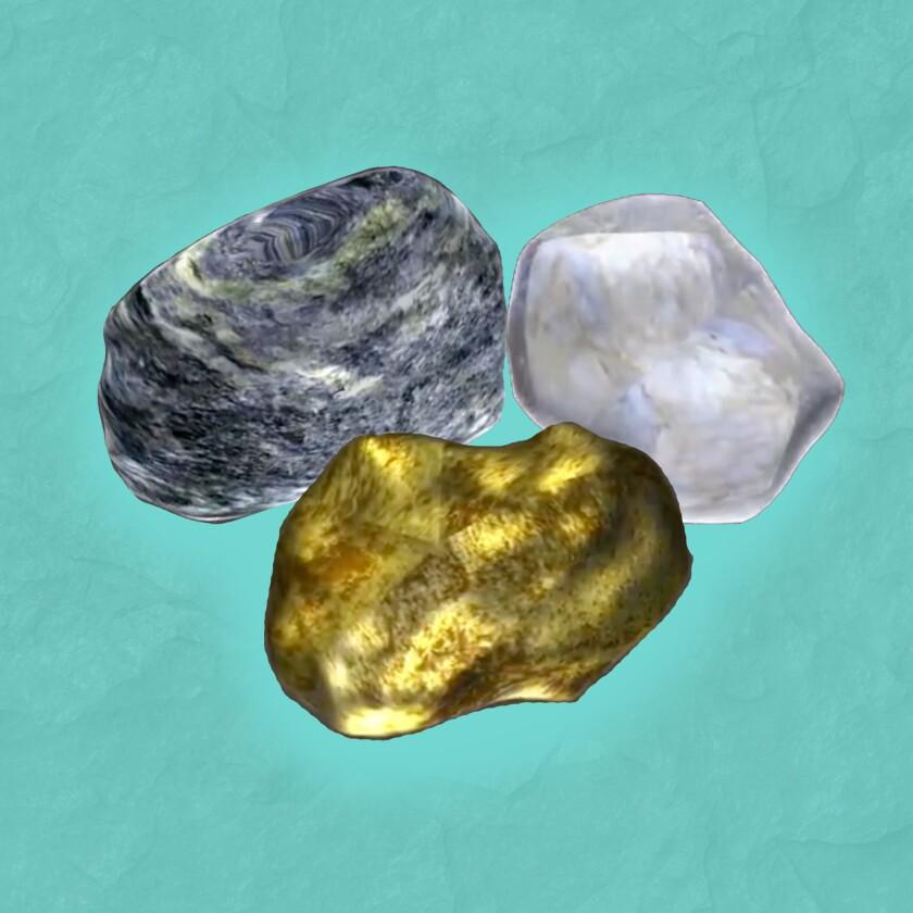 Three different types of rocks