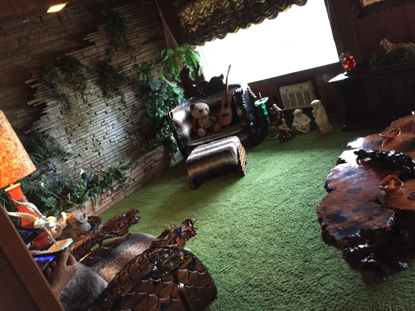 The Jungle Room is seen at Elvis Presley's Graceland Mansion in Memphis, Tenn.