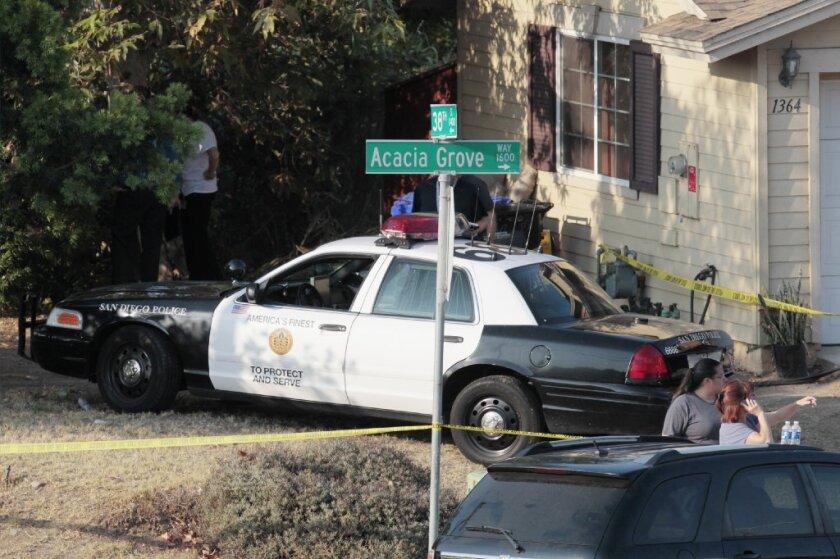 SDPD officers shot Acacia Grove Way gibbins.JPG
