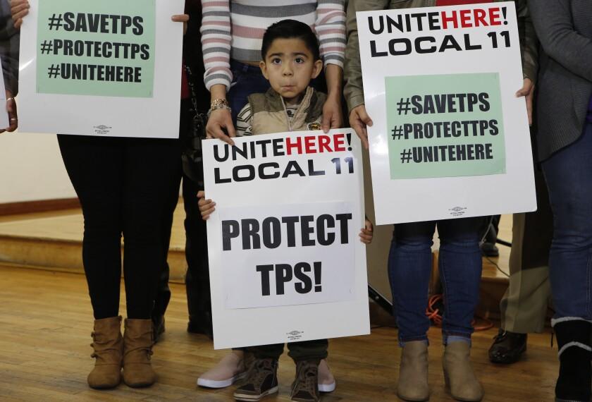 Mateo Barrera, de 4 años, nacido en El Salvador y cuyos familiares se benefician del Estatus de Protección Temporal
