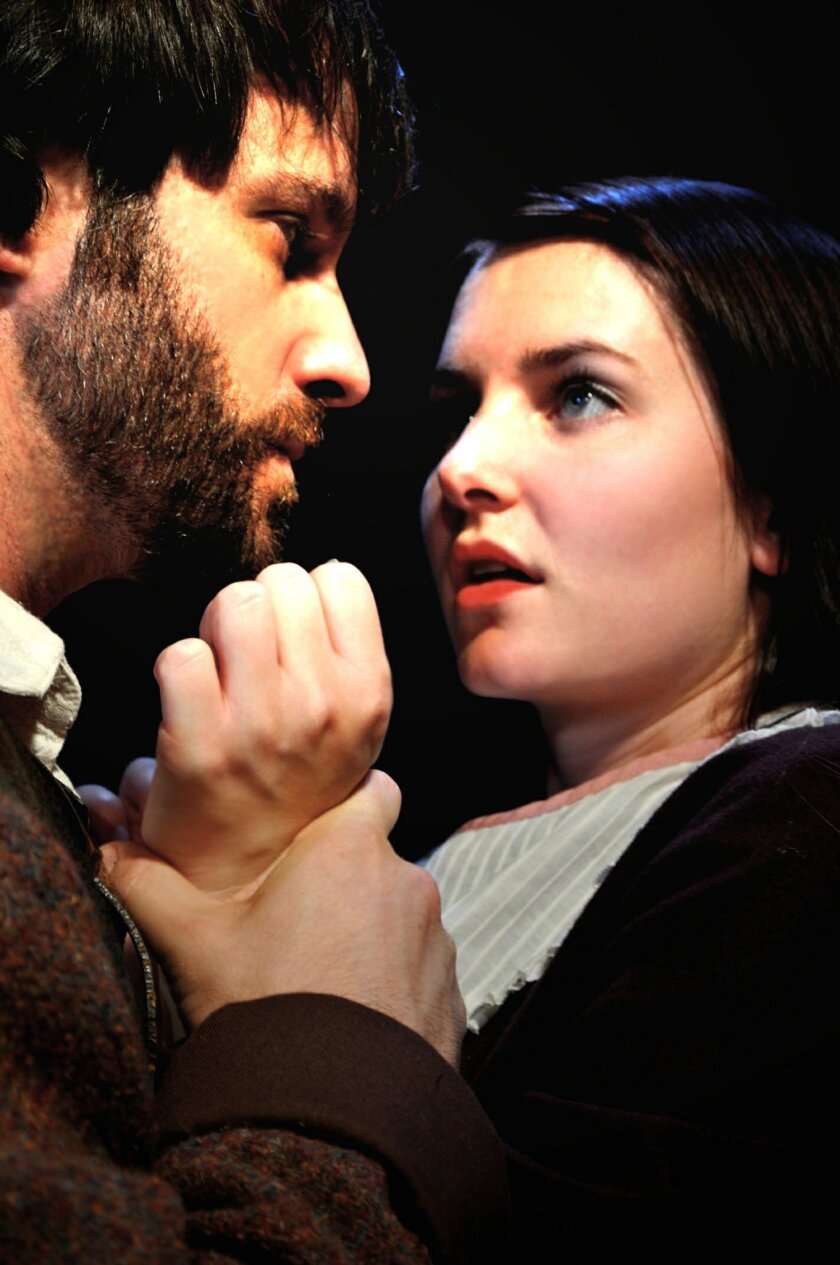 """Sean Cox as John Proctor and Callie Prendiville as Abigail Williams in """"The Crucible."""" Christy Yael"""