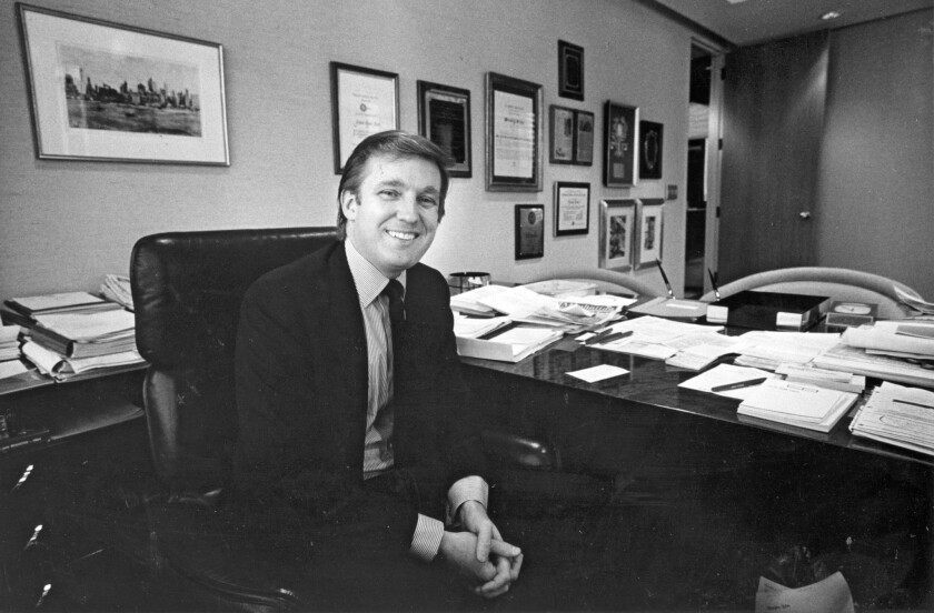 """Donald Trump, in 1985, shortly before publication of his best-selling memoir """"The Art of the Deal."""""""