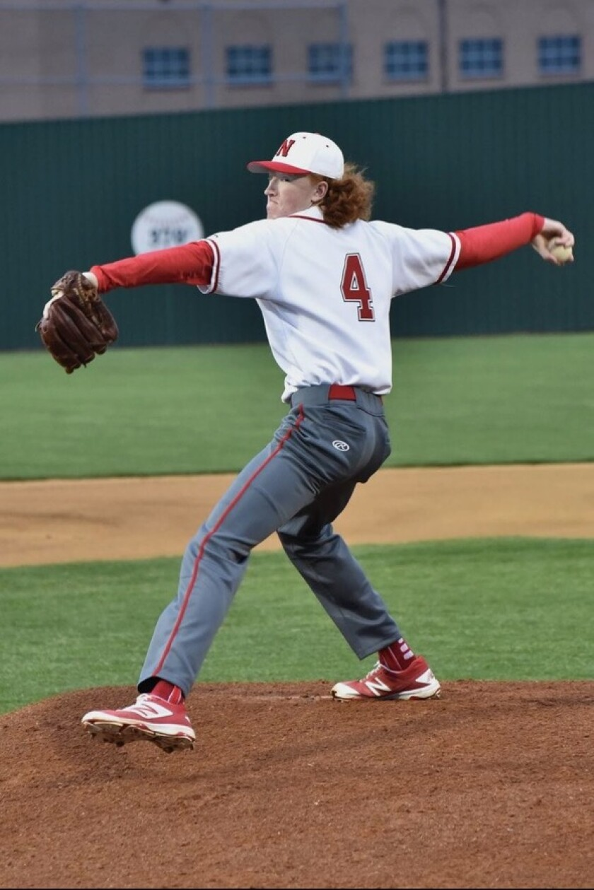 Dustin May pitching for Northwest High School in Fort Worth, Texas.