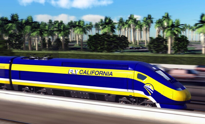 An artist's conception of the California High-Speed Rail.