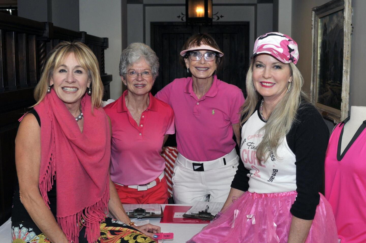 Roxana Foxx, volunteers Gail Kendall and Kathy Giovenco, co-chair Pam Blakely