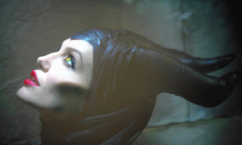 Maleficent played by Angelina Jolie.