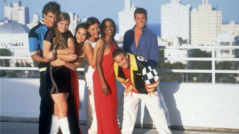 "MTV and Facebook Watch are casting in Miami for the upcoming season of ""The Real World."" The show's fifth season in 1996 was filmed in Miami. File photo of that cast."