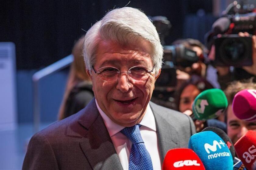 El presidente del Atlético de Madrid Enrique Cerezo. EFE/Archivo