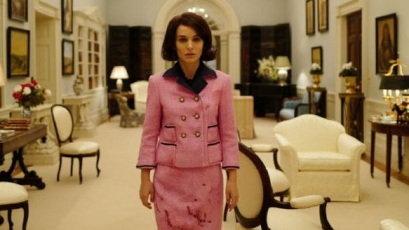 """Two pink Chanel suits had to be created for Natalie Portman to wear in """"Jackie,"""" including one to wear after the assassination scene."""