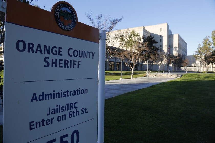 A 28-year-old Orange County sheriff's deputy has pleaded not guilty to three felony charges in the attack of his girlfriend last month.