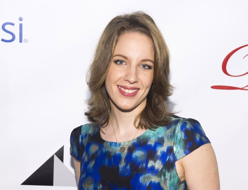 """FILE - This May 16, 2014 file photo shows actress Jessie Mueller at the Drama League Awards in New York. Mueller is following up her Tony-winning role singing Carole King songs with the lead in """"Waitress,"""" which features tunes by Sara Bareilles. The new musical tells the story of a waitress and pie maker trapped in a small-town diner and a loveless marriage. It's adapted from a 2007 film starring Keri Russell. (Photo by Charles Sykes/Invision/AP, File)"""